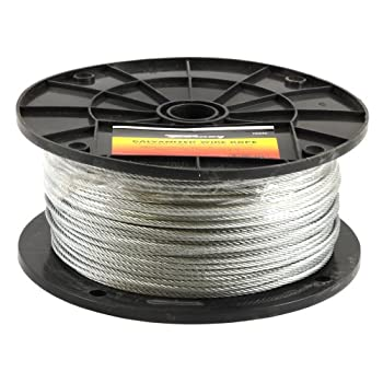 Image of Home Improvements Forney 70446 Wire Rope, Galvanized Aircraft Cable, 500-Feet-by-1/8-Inch