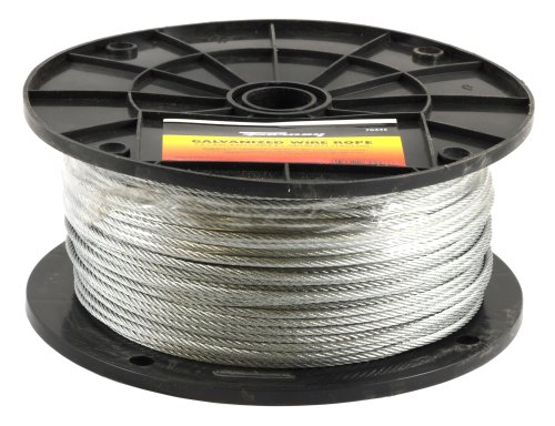Plastic Coated Wire Rope - Forney 70446 Wire Rope, Galvanized Aircraft Cable, 500-Feet-by-1/8-Inch