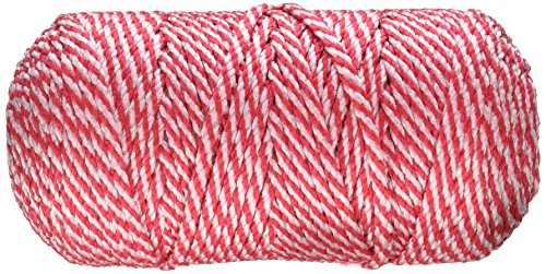 Pepperell Bonnie Macrame Craft Cord, 4mm by 100 yd, Strawberry Shortcake