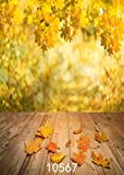 CdHBH 5X7ft Autumn Yellow Natural Scenic Photography Backdrops Floor Photo Backdrop for Children Studio Background 10567