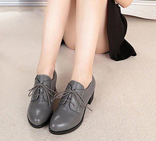 et les chaussures chaussures UK5 avec Mme chaussures chaussures dentelle US7 ronds épais en dautomne à CN38 talons printemps 5 EU38 5 simples gcHw5cYqS