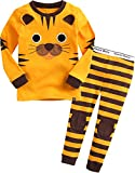 Vaenait baby [FreeShipping] 1-7 Years Boys 100% Cotton Pyjama Sleepwear Set Tie Tiger XS