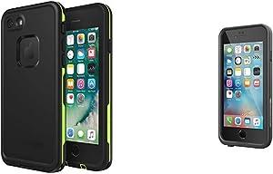 """Lifeproof FRĒ Series Waterproof Case for iPhone 8 & 7 (ONLY) - Retail Packaging - Night LITE (Black/Lime) & FRĒ Series iPhone 6/6s Waterproof Case (4.7"""" Version) - Retail Packaging - Black"""