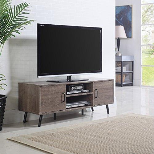 Divano Roma Furniture Mid Century Modern TV Stand (Ash)