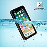 YMCCOOL for iPhone X Waterproof Case Full Body Protective Rugged Case Shockproof/Dirtproof/Snowproof IP68 Certified with Built in Screen Protector Waterproof Case for iPhone X 5.8 Inches