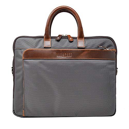- Laptop messenger bag 14 inches, Llompart model Ll-2153 (Grey Balistico)