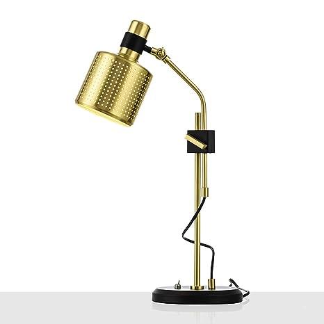 RISHENG Postal de Oro Moderna Mesa Minimalista lámpara de Color ...