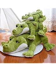 60-120 cm leuke krokodil knuffel knuffeldier grote ogen krokodil pop woondecoratie kussen, verjaardagscadeau voor jongen