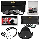 vivitar filter kit 55mm - Vivitar 55mm 7-Piece Multi-Coated HD UV/CPL/ND8 & 4 Macro Filter Set+ Hood + Accessory Kit