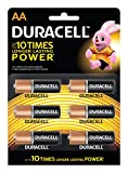 Duracell Alkaline AA Battery with Duralock Technology - 6 Pieces