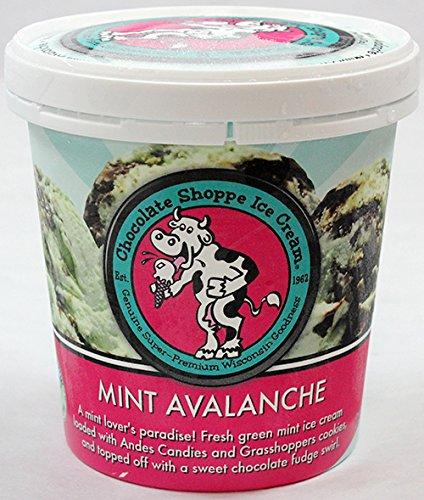 Chocolate Shoppe, Mint Avalanche Ice Cream, Pint (8 Count) (Ice Shoppe Cream Chocolate)