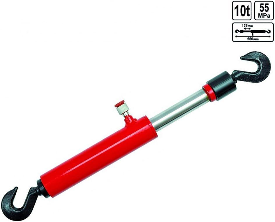 Zugzylinder 10 Tonnen Hydraulikzylinder Mit Kettenhaken Und Rückzugsfeder Für Richtsatz Baumarkt