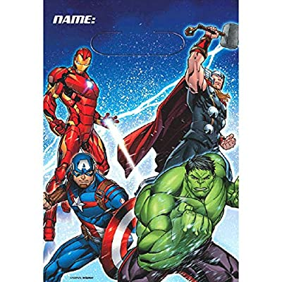 Marvel Epic Avengers 16 Pack Party Plastic Loot Treat Candy Favor Bags (Plus Party Planning Checklist by Mikes Super Store): Toys & Games
