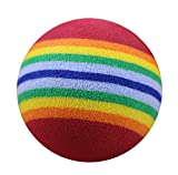 Freerun Pet Toy Ball for Cats & Small Dogs Puppy Rainbow Foam Fetch Ball Training Interactive Pet Toy