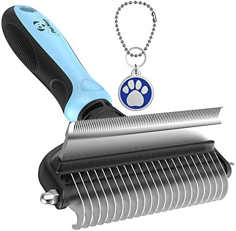 Dog Brush and Cat Brush – 2 Sided Pet Grooming Tool for Deshedding, Mats & Tangles Removing – No More Nasty Shedding and Flying Hairs