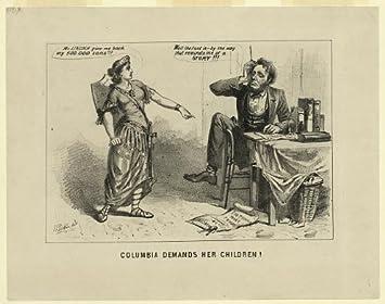 Foto: Columbia demandas su niños., Abraham Lincoln, Unión Guerra ...