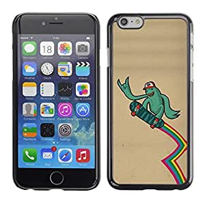 Be Good Phone Accessory // Dura Cáscara cubierta Protectora Caso Carcasa Funda de Protección para Apple Iphone 6 Plus 5.5 // Green Monster Alien Skateboard Rainbow Lgbt