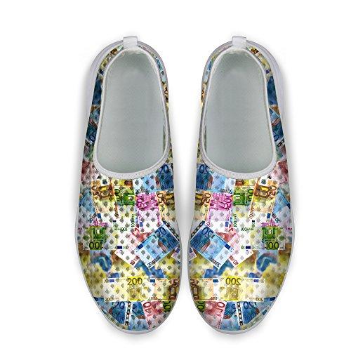 For U Design Stilig Dollar Mynt Print Unisexs Uformell Mesh Sneaker Joggesko Multi 1