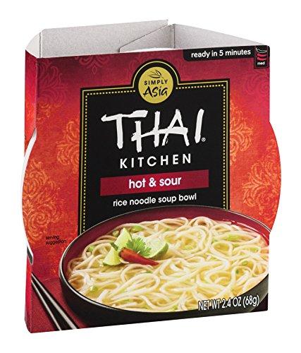 Thai Kitchen Hot & Sour Rice Noodle Soup Bowl, 2.4 oz. (Pack of (Thai Kitchen Bowl)