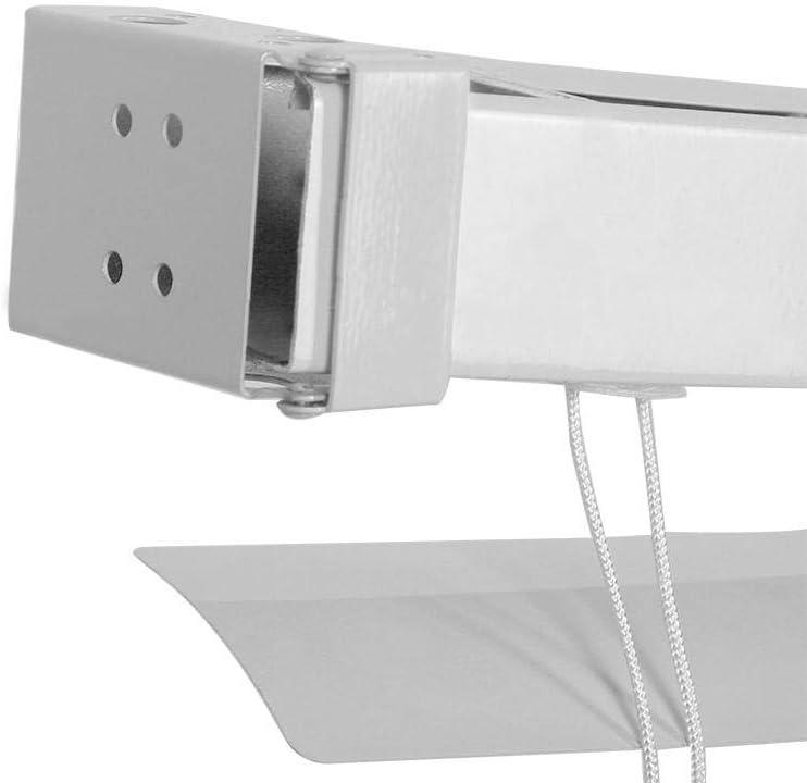 EBTOOLS Store V/énitien en Alliage daluminium pour Fen/être Store Enrouleur de Fen/être Pratique pour Cuisine Chambre Salon Salle de Bain 105 x 150 cm Montage Simple Blanc