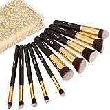 Soobest ® Professional Kabuki Makeup Brushes Set With Carry Bag ,Included Kabuki Foundation Blending Blush Eyeliner Face Powder Brush Makeup Brush Kit ,10PCS/Set