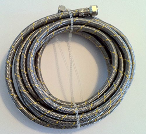 Propane, Natural Gas Line 5ft Stainless Steel Braided Hose LP LPG Grill Parts