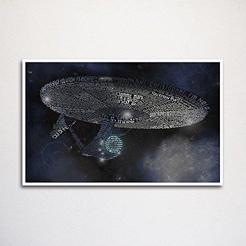 Star Trek (2009) word art print, 11x17 - 2009 Art