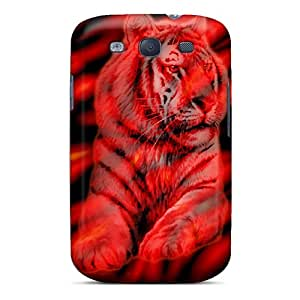 Snap-on Case Designed For Galaxy S3- Red Tiger