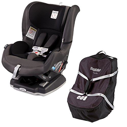 Peg Perego Travel Bag - Peg Perego Convertible Car Seat 5/65, Atmosphere (Light/Dark Grey) with Travel Bag