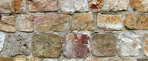 Faux Flooring Rock Wall Runner, 25 by 60-Inch, Multicolor