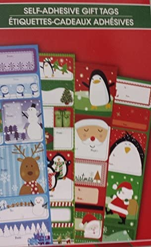 Xmas Labels Stickers 216 Adhesive Christmas Package Booklet Sticky Pad Presents