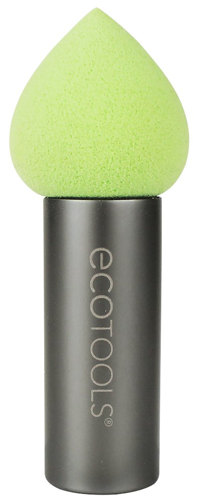 Ecotools Cruelty Free Contour Perfecting Applicator Made With Recycled Materials, Latex Free; Determatologist Tested; Pointed Tip and Aluminum Handle for Cheekbone Sculpting Precision