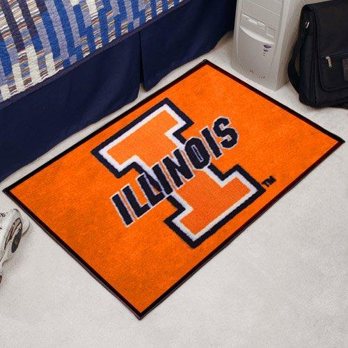 NCAA University Of Illinois Football Starter - Football Illinois Rug