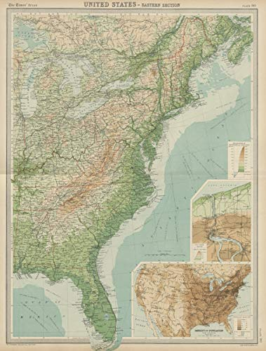 Amazon.com: Eastern United States. Atlantic Seaboard. USA. Great ...
