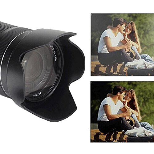 HomyWord for Canon EW-73D Black Replaces Canon EW-73D Reversible Camera Flower Lens Hood Shade for Canon EF-S 18-135mm f//3.5-5.6 is USM Lens with 67mm Lens Cap Lens Hood + Lens Cap