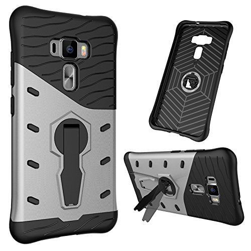 (AICEDA Shell Asus Zenfone 3 ZE552KL 5.5 inch Case Ultra Slim Protective Iridescent Cellphone Case Cover Protective shell for Asus Zenfone 3 ZE552KL 5.5 inch (Silver))