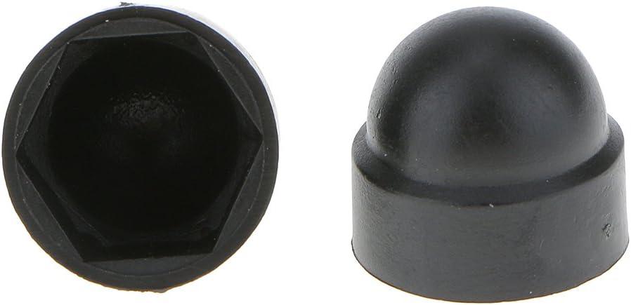 MonkeyJack 10pcs M12+10 pcs M10 Black Dome Bolt Nut Protection Caps Cover Hexagon Screws