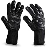 youeneom Grilling Gloves, Heat Resistant Gloves BBQ Kitchen Silicone Oven Mitts,Barbecue/Grill/Smoker/Fry Turkey/Oven mitt/Baking, Waterproof with Textured Palms (B)