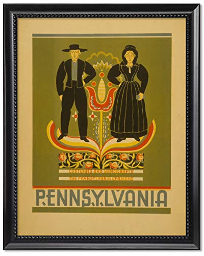 ClassicPix Framed Print 11x14: Pennsylvania Costumes and Handicrafts, The Pennsylvania -