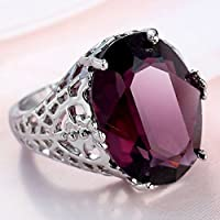 jindarat Huge Natural 6Ct Alexandrite Ring 925 Silver Bridal Wedding Engagement Size 6-10 (8)