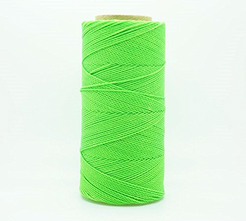 - NEON GREEN 1mm Waxed Polyester Twisted Cord Macrame Bracelet Thread Artisan String (180yards Spool)