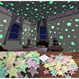 Amazon Price History for:FULLIN Room Sticker Glow In The Dark Star Shape for Ceiling Wall Kid Bedroom Stickers 100Pcs Packing 3 CM Blue Color