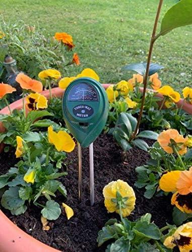 3 en 1 Kit Test de Sol pour pH M/ètre Humidit/é L/ég/èret/é pH pour Jardin Pelouse Ferme Plantes Dint/érieur Int/érieur et Ext/érieur