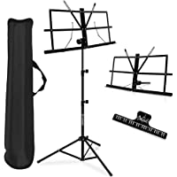 Music Stand, Kasonic 2 in 1 Dual-Use Folding Sheet Music Stand & Desktop Book Stand, Portable and Lightweight with Music…