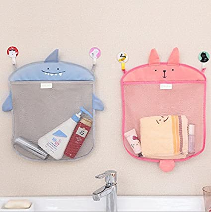 BX 144 Cartoon Bathroom Folding Mesh Hanging Storage Bag Bathing Toy Storage  Organizer By Randall