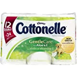Cottonelle Gentle Care Toilet Paper w/ Aloe & E, Double Roll, 12 pk