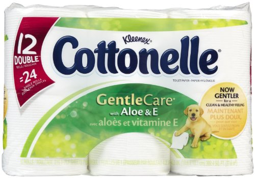Cottonelle Gentle Care Toilet Paper Double Rolls With Aloe &