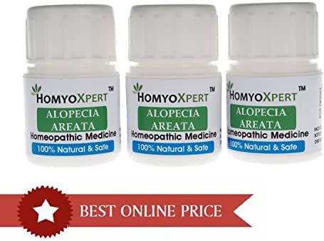 HomyoXpert Alopecia Areata Hair Falling Spots Homeopathic Medicine For One Month
