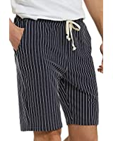 Men's Casual Athletic Jogging Shorts Drawstring Striped Terry Louging Shorts for Men (XL, Denim Blue)