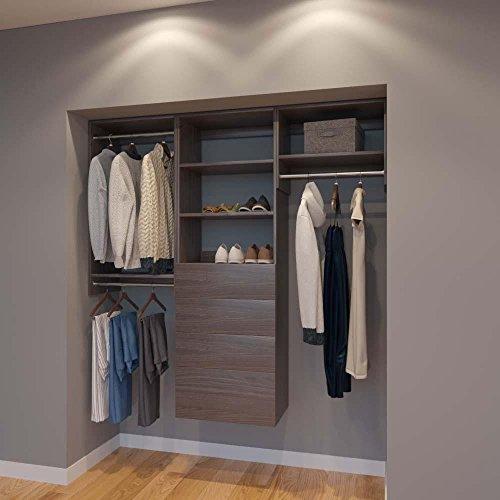 Closet 72' Storage (Modular Closets 6 FT Closet Organizer System - 72 inch - Style A)